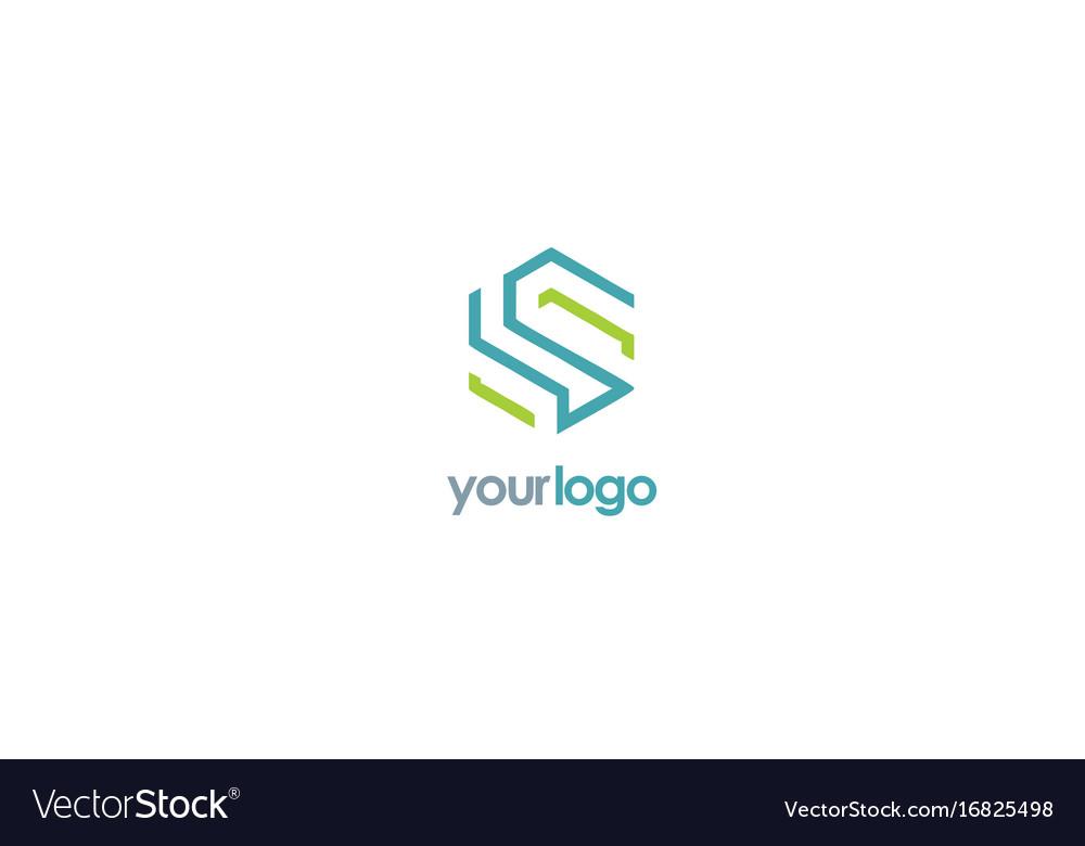 Shape line letter s business logo