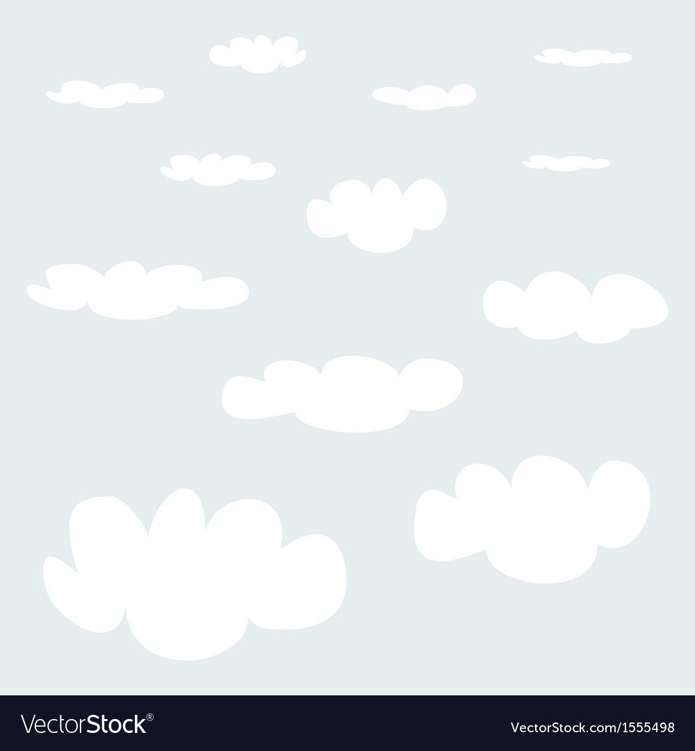White clouds on blue sky background collection
