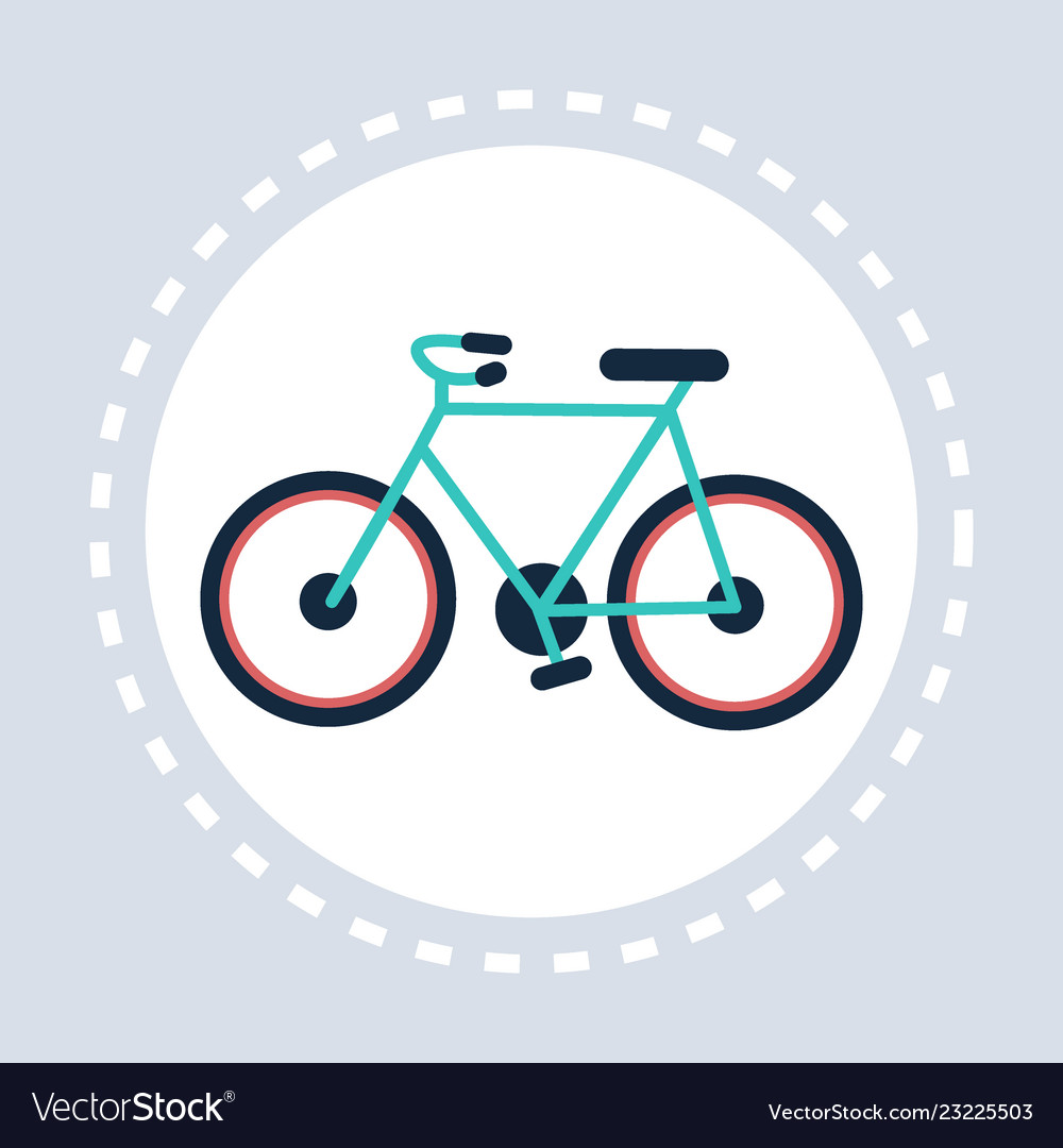 Bike icon active healthy lifestyle concept flat