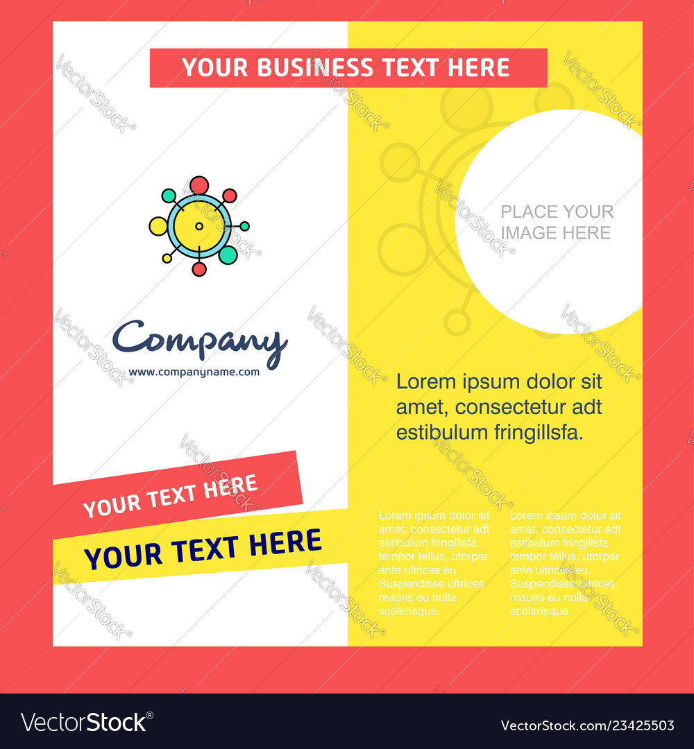Chemical bonding company brochure template vector image on VectorStock