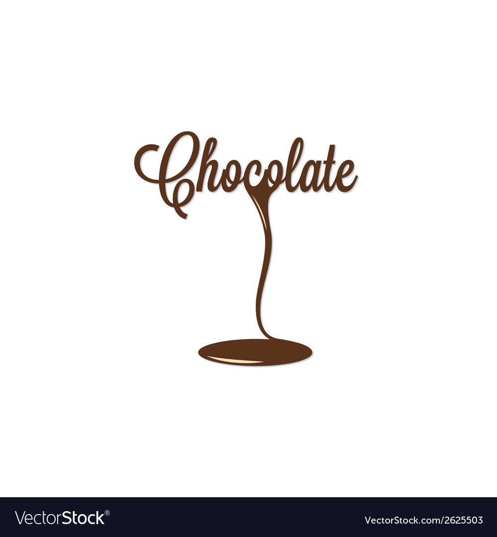 Chocolate isolated sign