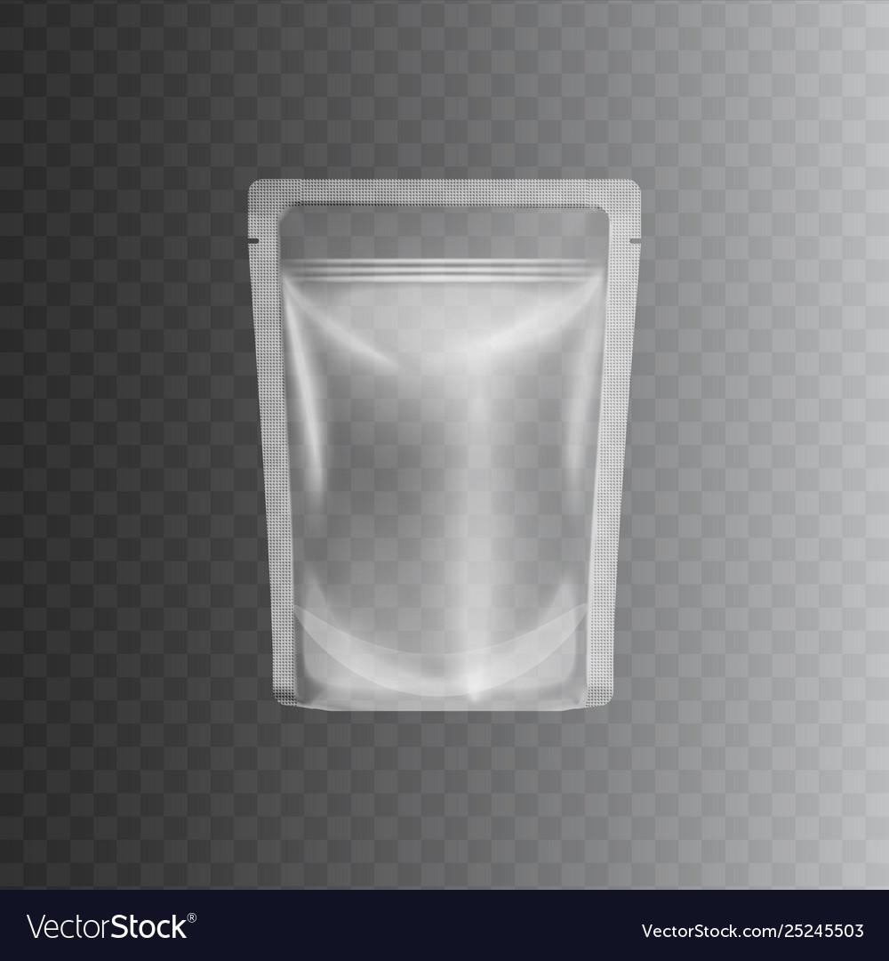 Clear transparent plastic bag mockup