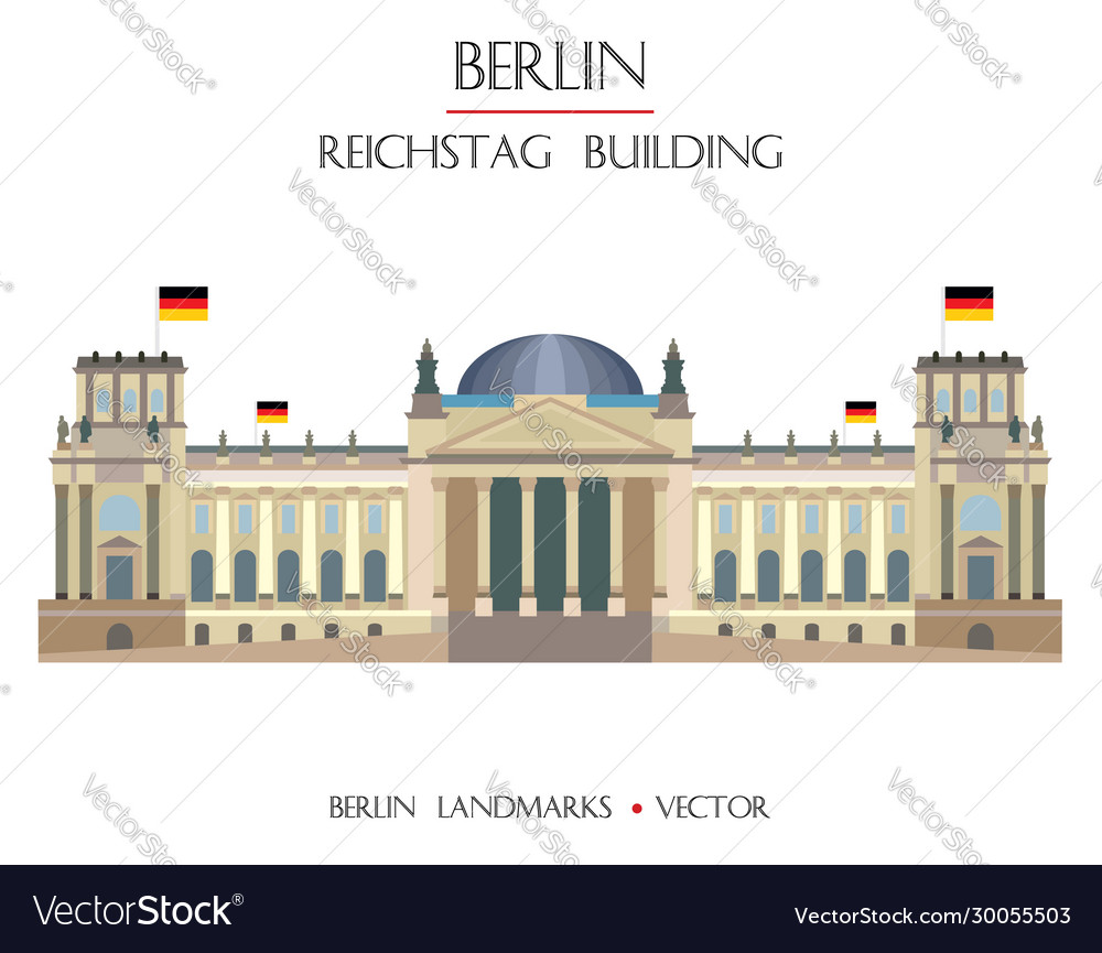 Colorful reichstag building