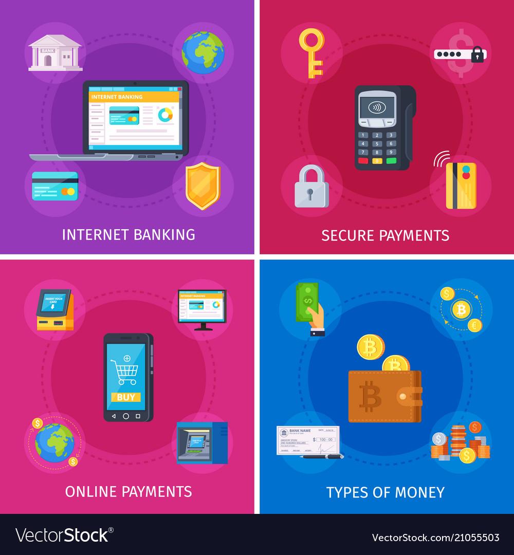Financial technology flat concept
