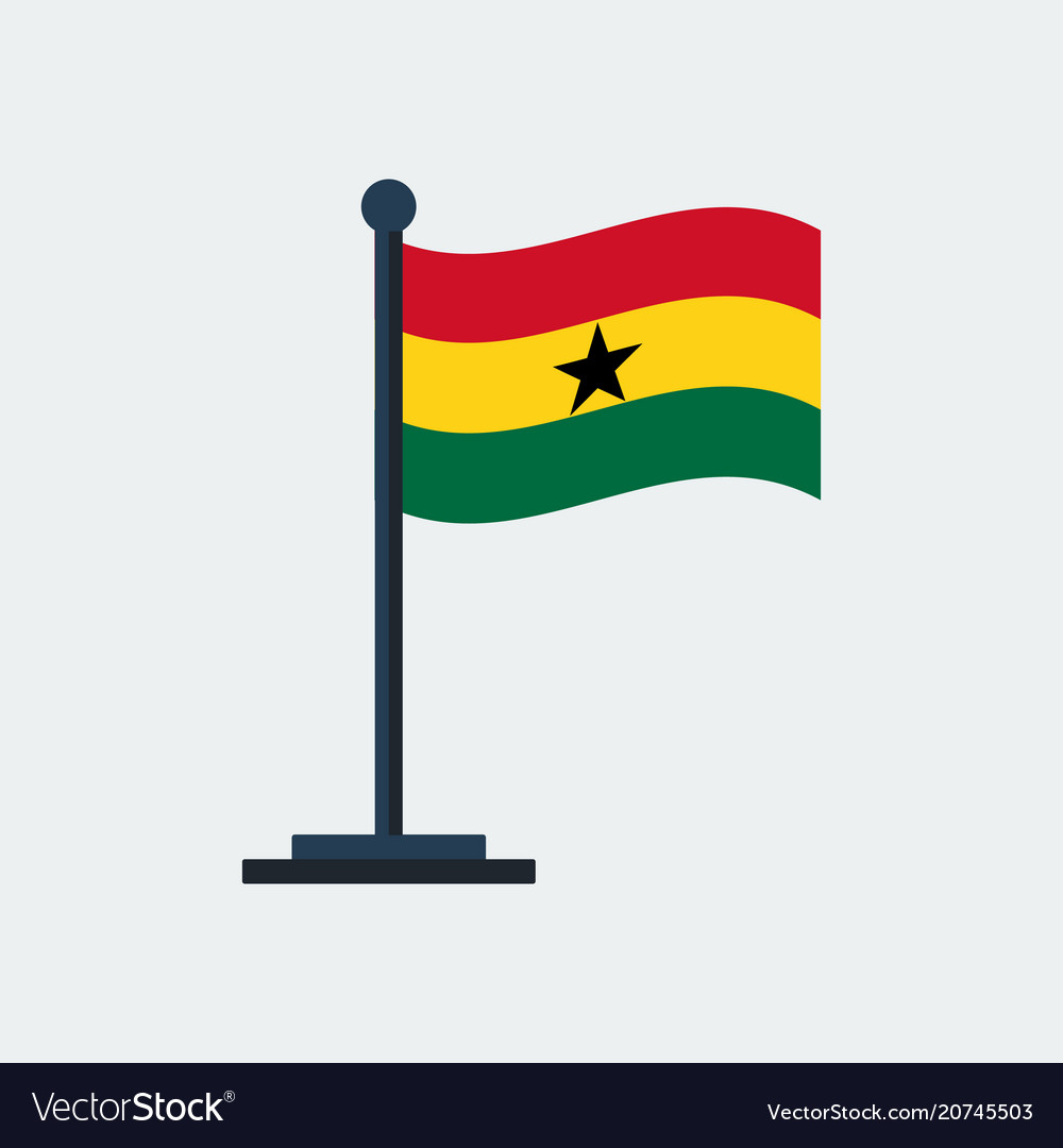 Flag of ghanaflag stand