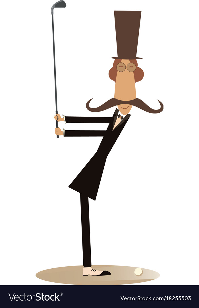 Gentleman a golfer isolated vector image