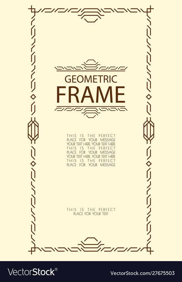 Geometric frame line style