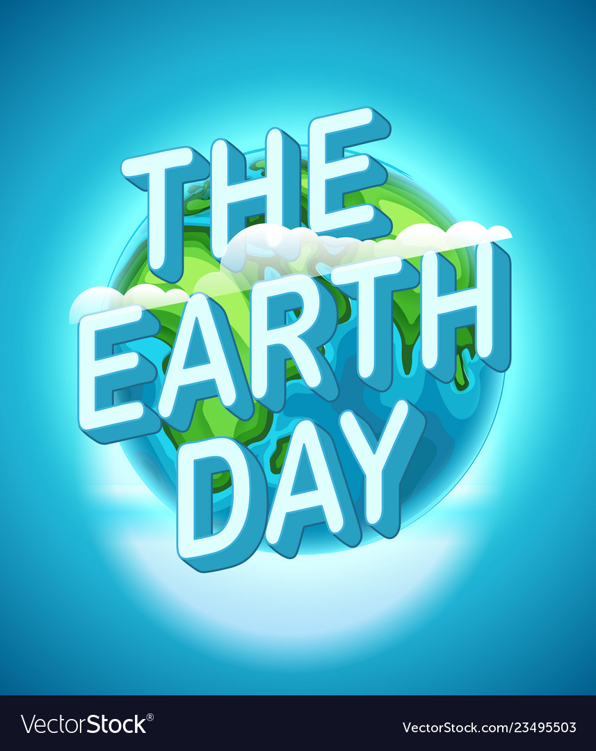 Happy earth day world environment day concept