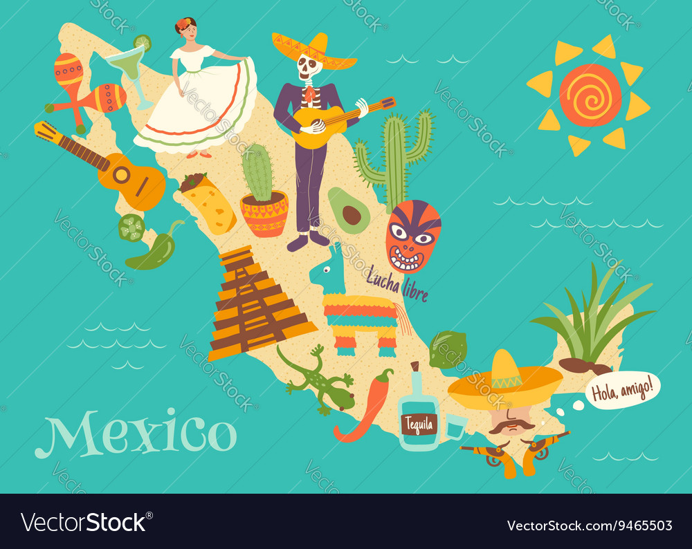 Mexico vector image