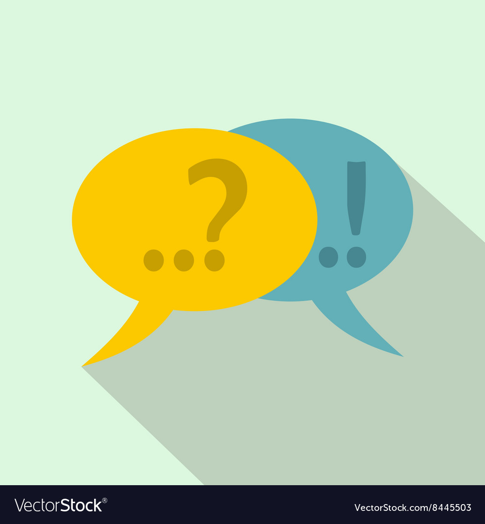 Speech bubbles with question and exclamation mark vector image