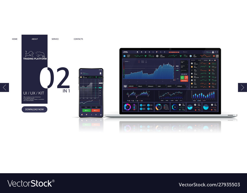 cryptocurrency trading dashboard ui kit