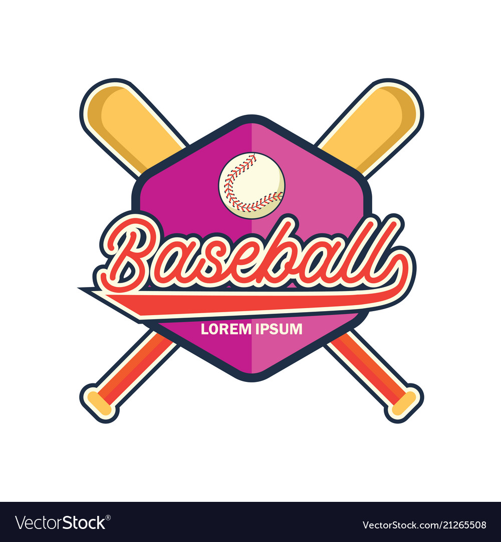 Baseball logo with text space for your slogan