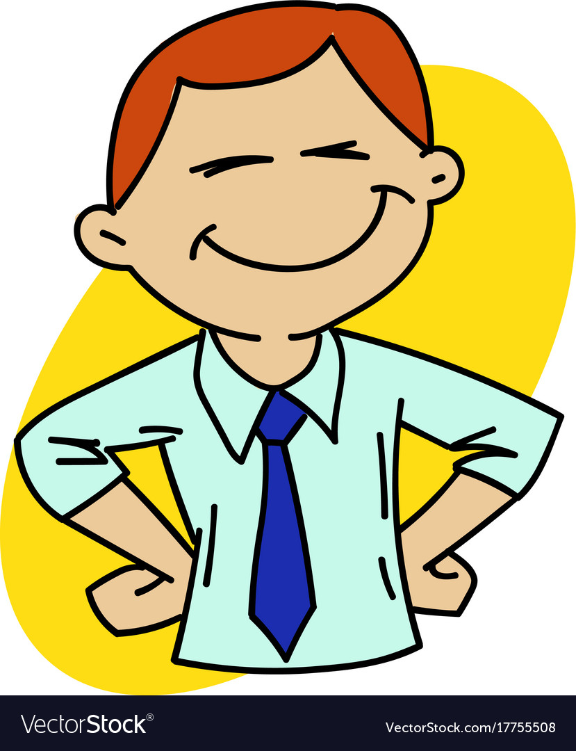 Happy office man