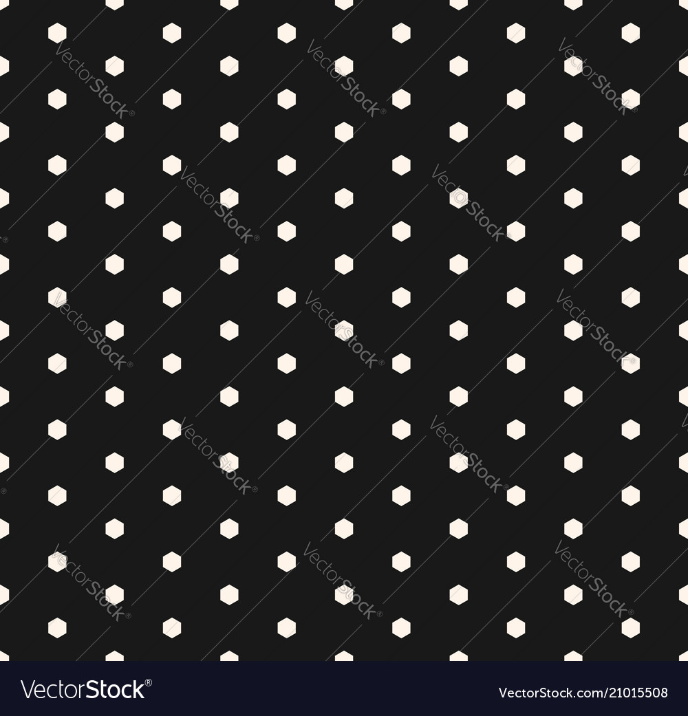 Minimalist seamless pattern with tiny hexagons