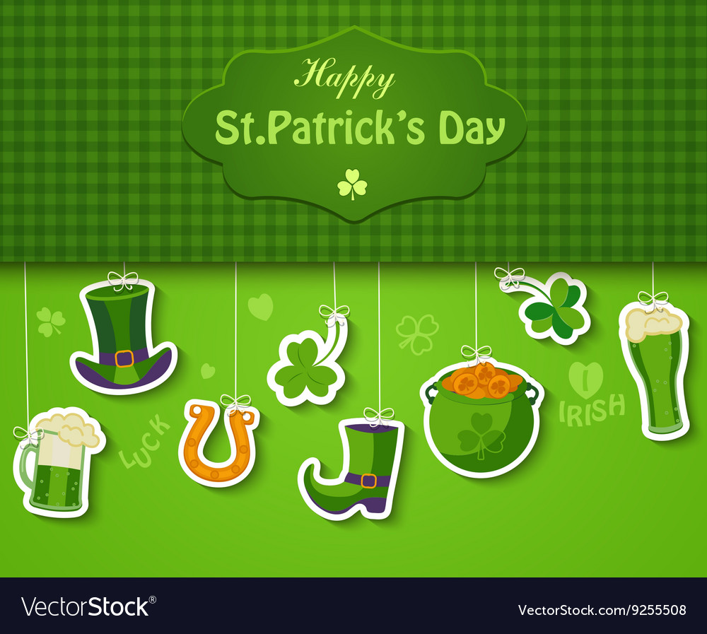 Poster banner or background for Happy St Patricks