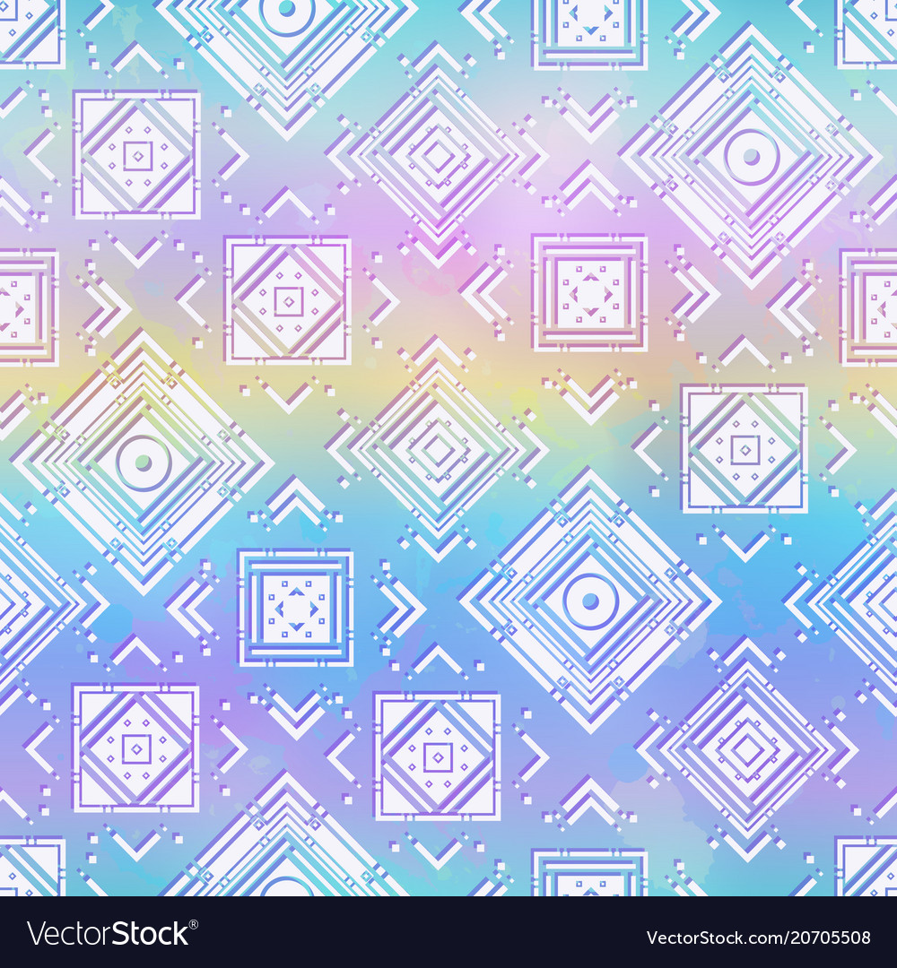 Rainbow geometric pattern