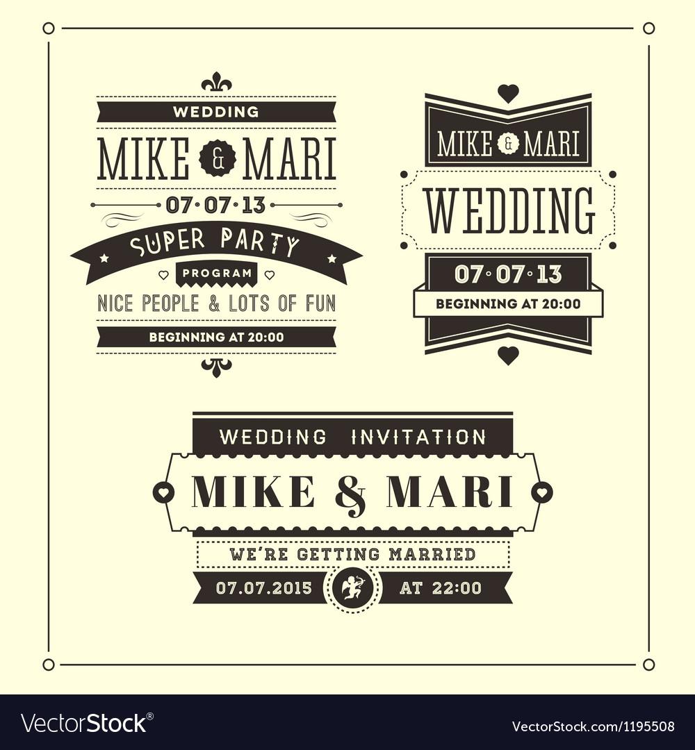 Retro weddings