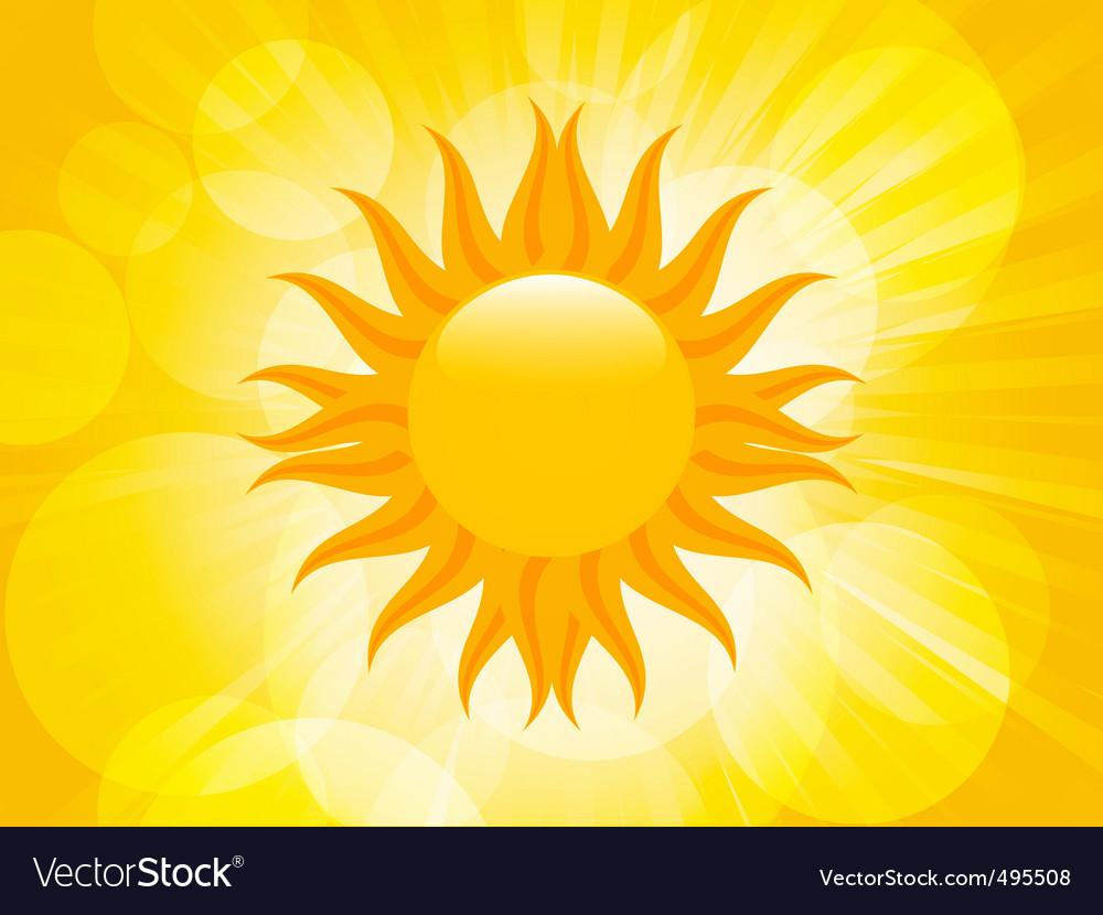 Summer sunset sun