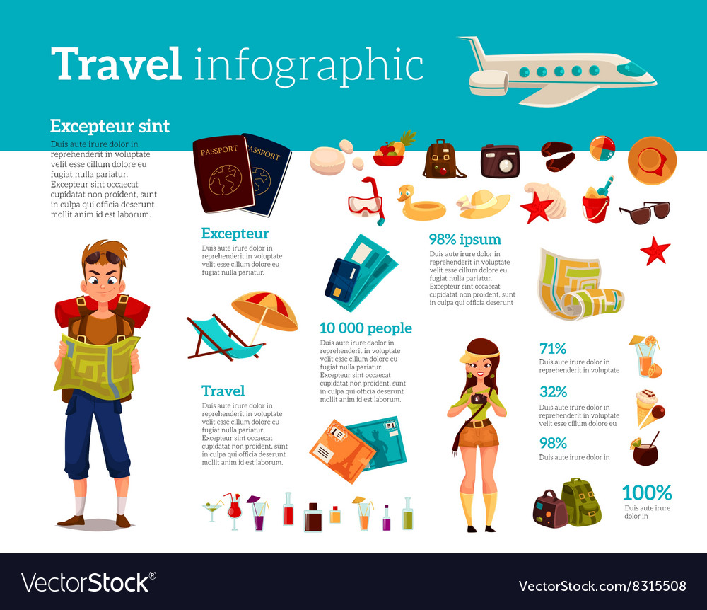 Travel icons Infographic with elements of