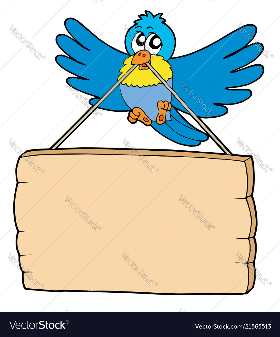 Bird with sign