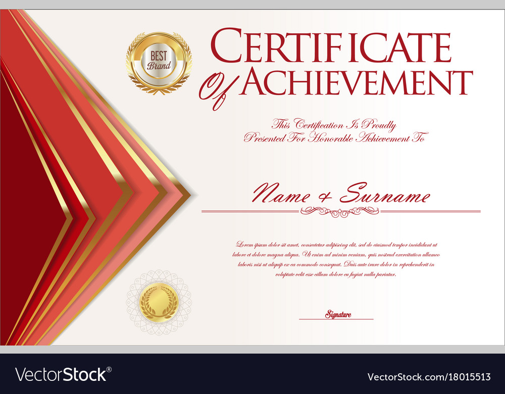 Certificate or diploma design template 3 Vector Image