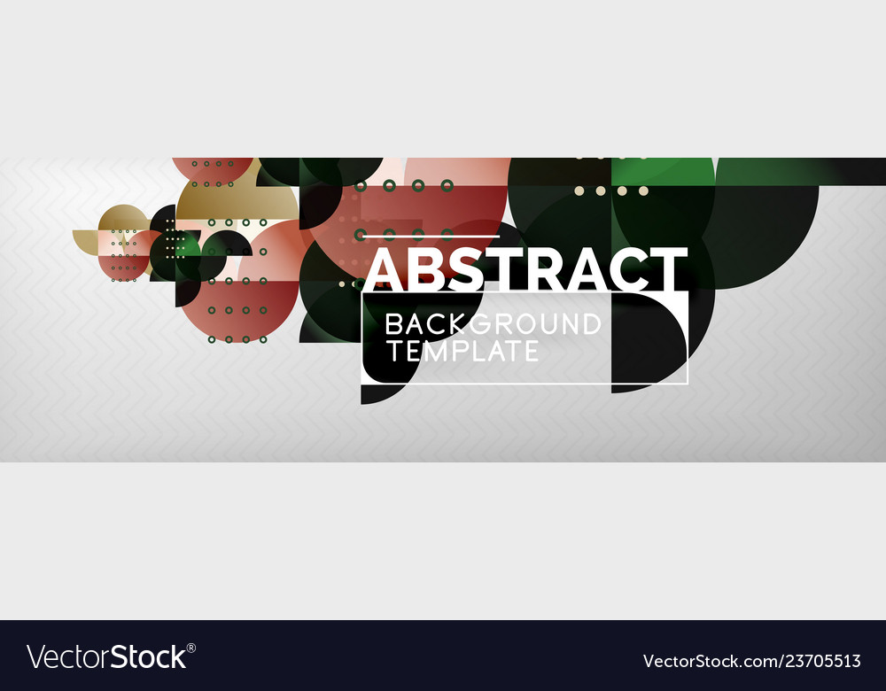 Circles and semicircles abstract background