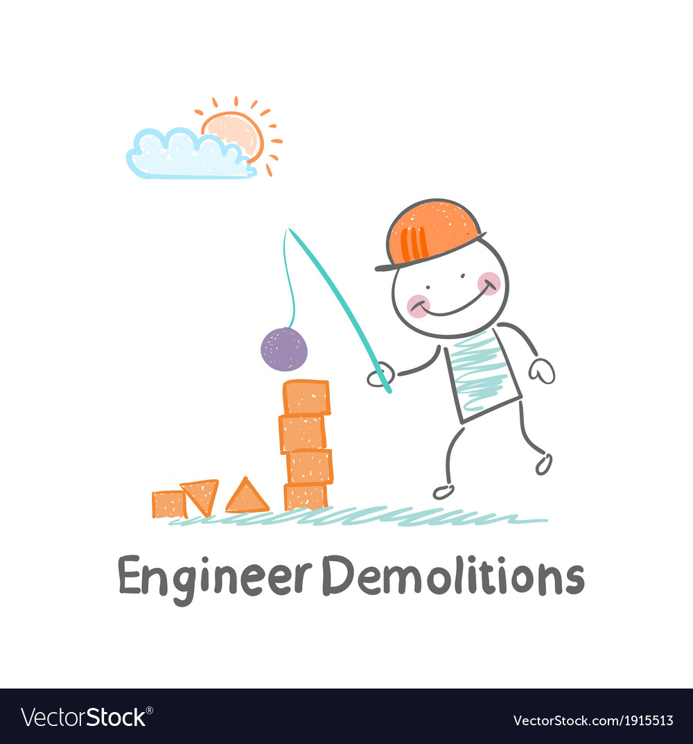 Engineer Demolitions destroys the tower of