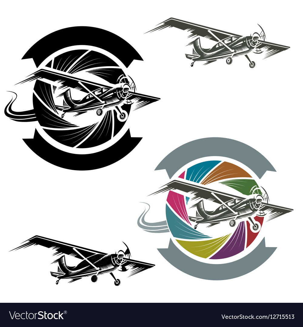 Logo with airplane