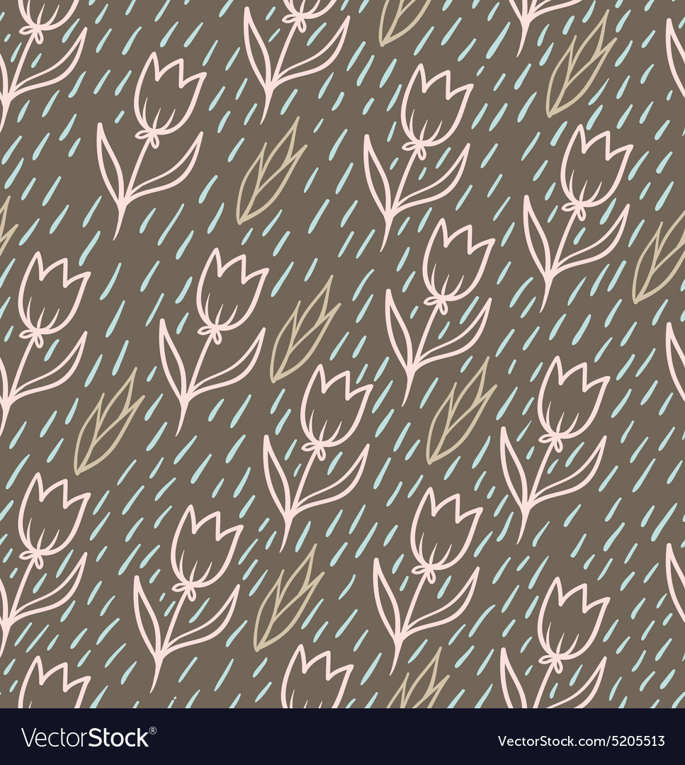 Seamless pattern with tulips backdrop Endless