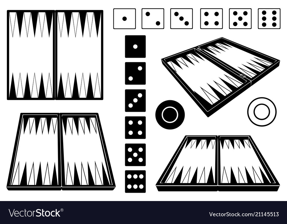 Set of different backgammon boards vector image