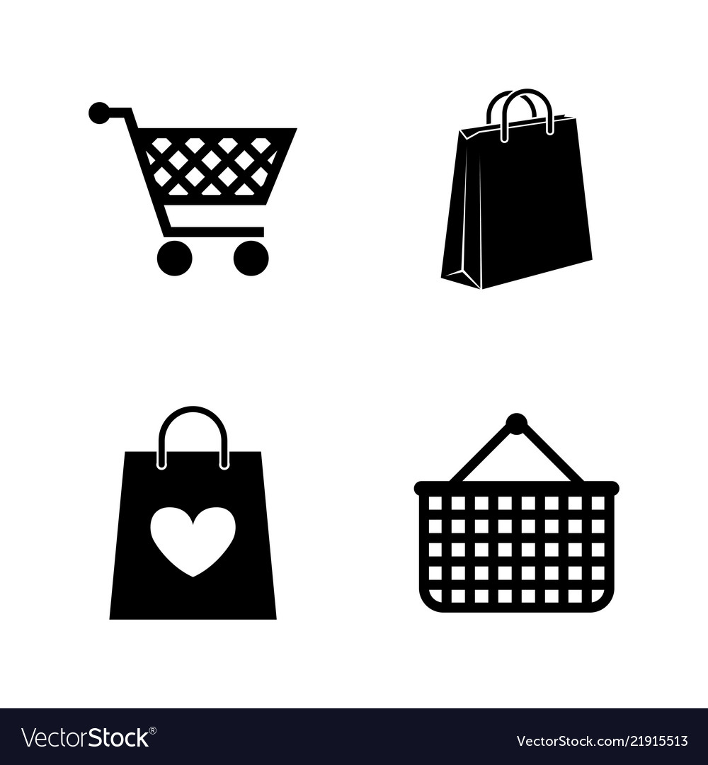 Shopping bag simple related icons