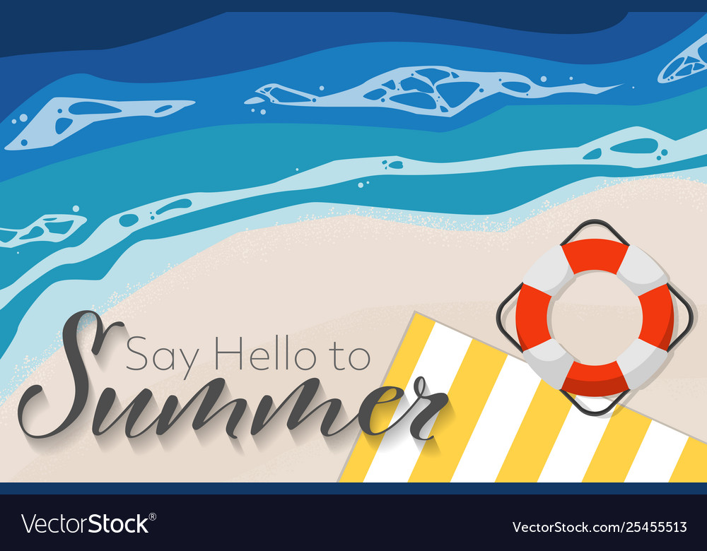 Summer holiday banner background