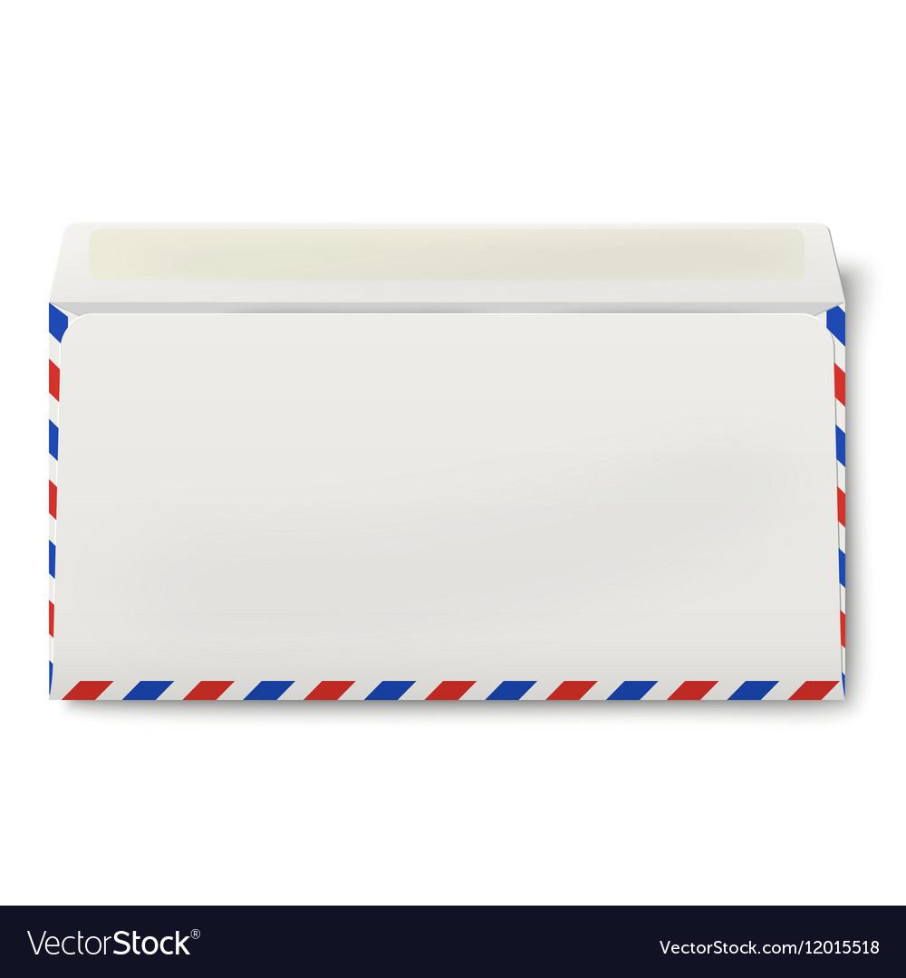 Backside of opened DL air mail envelope inside vector image