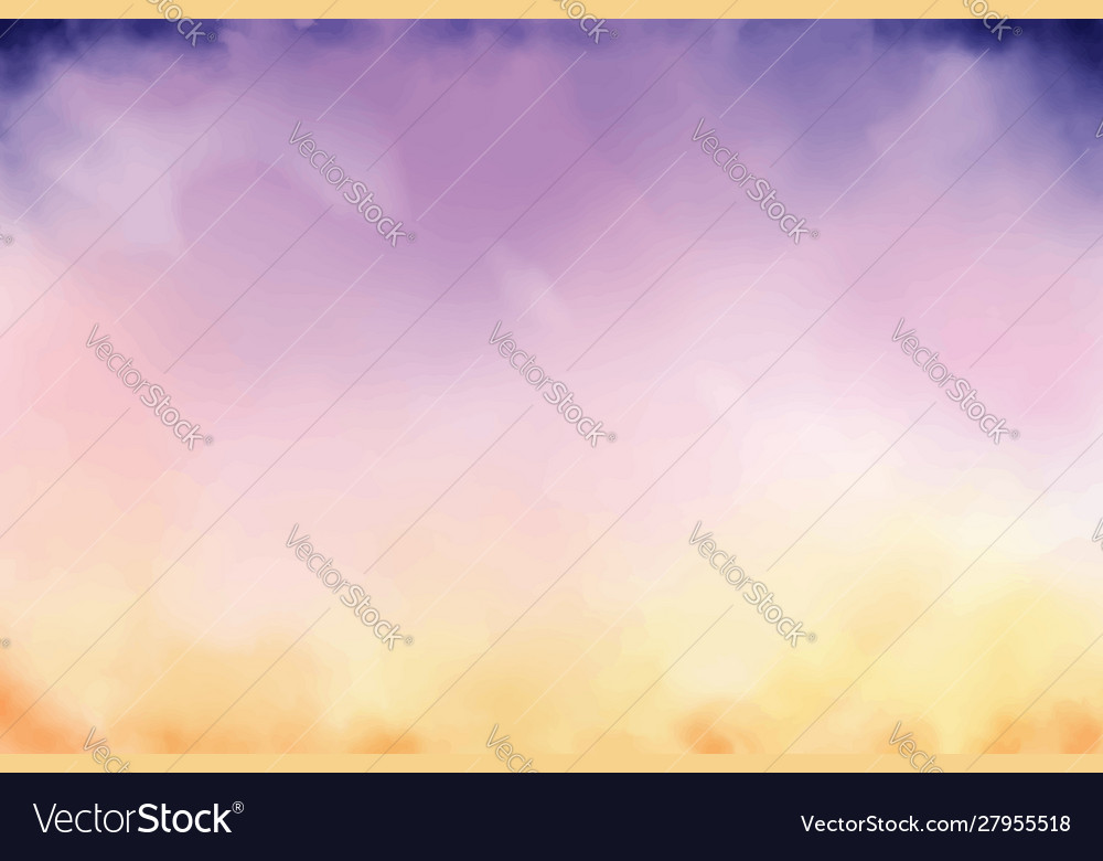 Beautiful twilight sky watercolor background