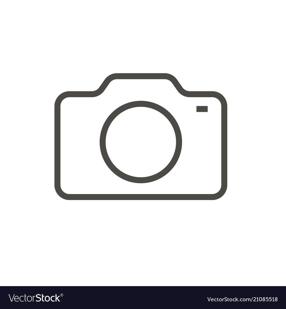 Camera Icon Line Photo Symbol Royalty Free Vector Image