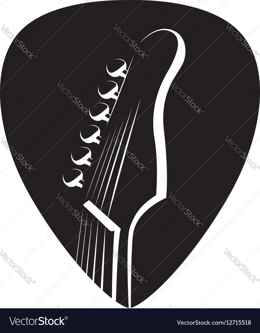 Icon with guitar and pick