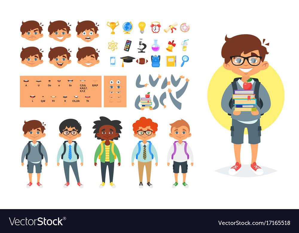 School boy character generator