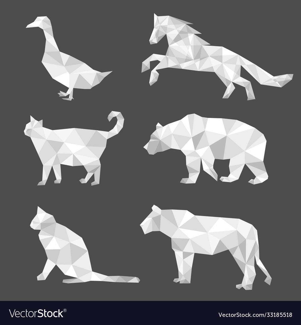 Set polygon geometric animal