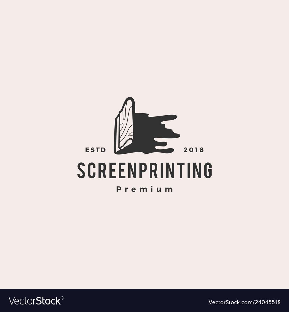 Silk screen printing logo template