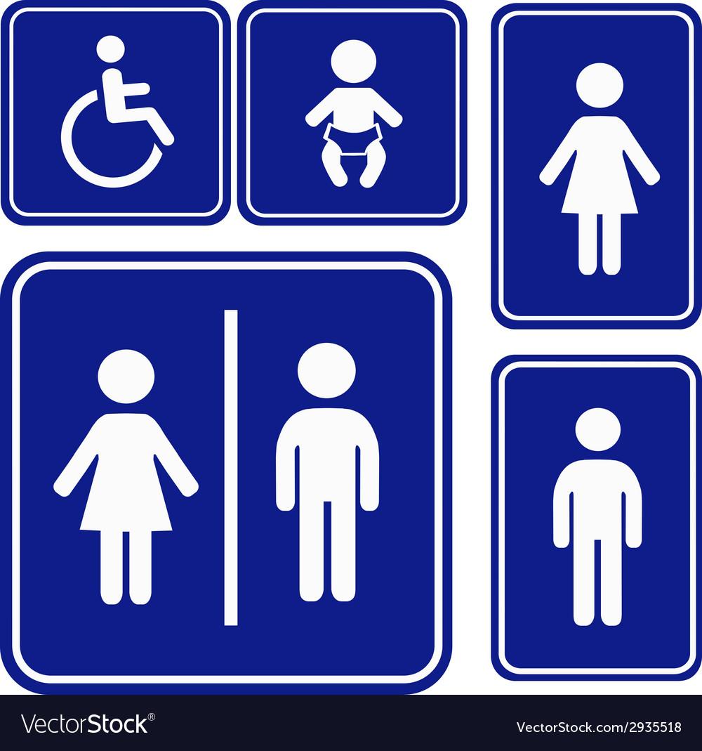 Toilette sign
