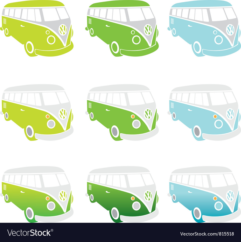 VW-Kombi vector image