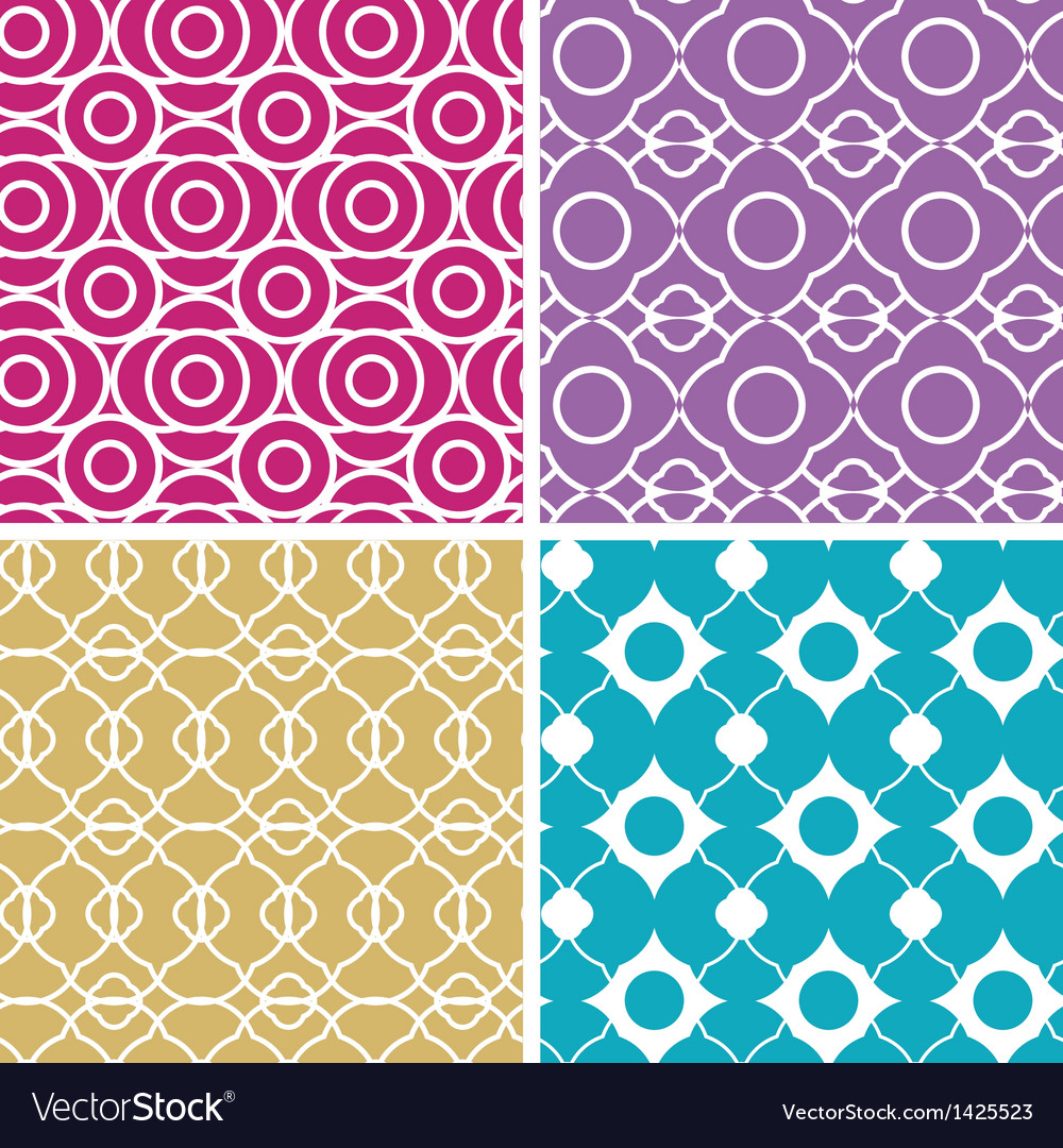 Colorful abstract lineart geometric seamless