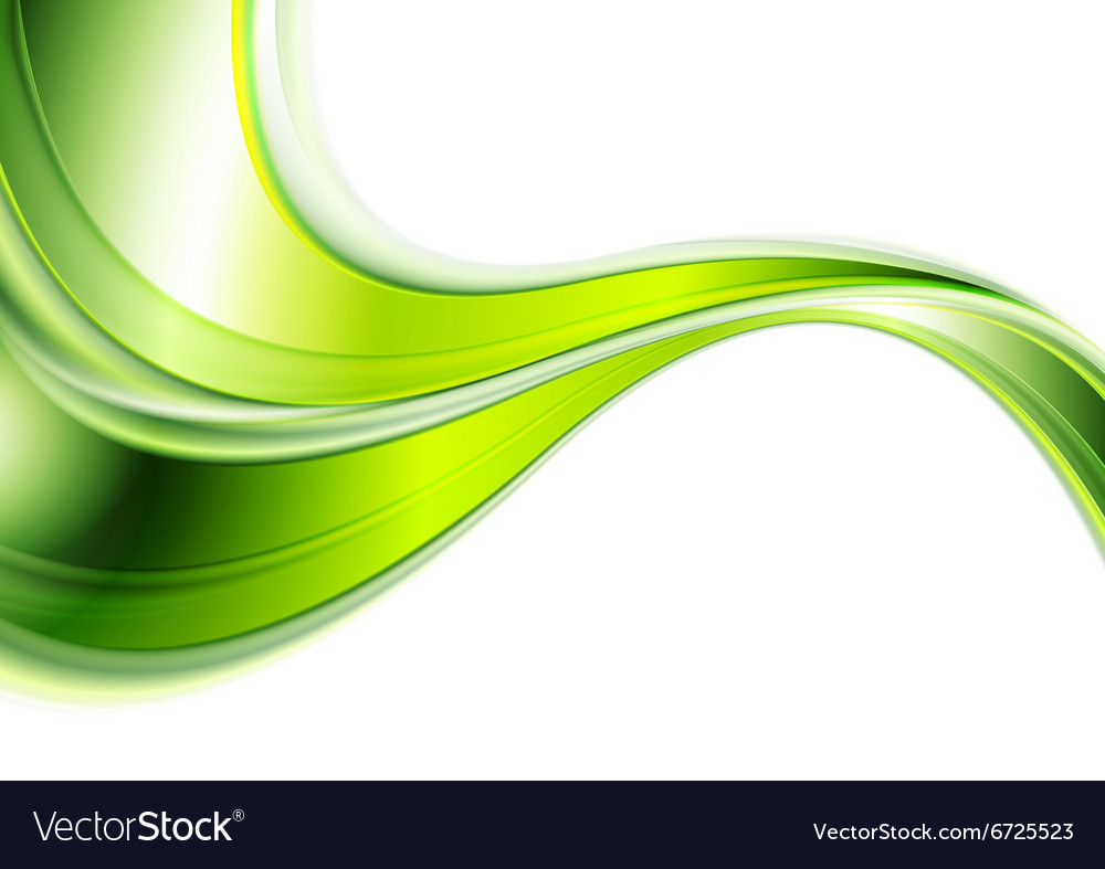 Green Abstract Smooth Waves Background