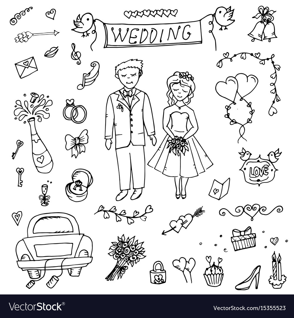 Groom wedding doodle