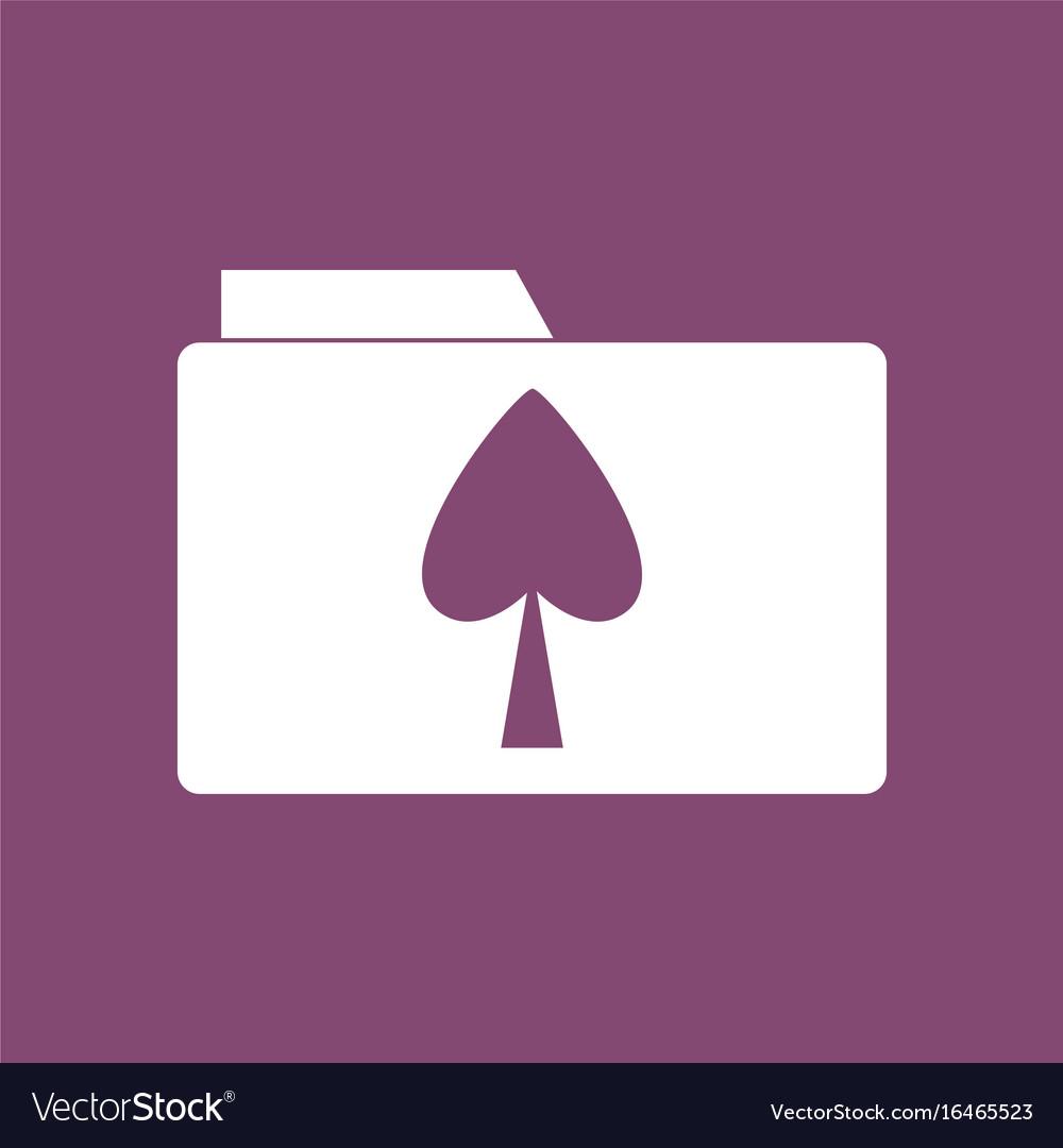 Icon spade symbol on folder