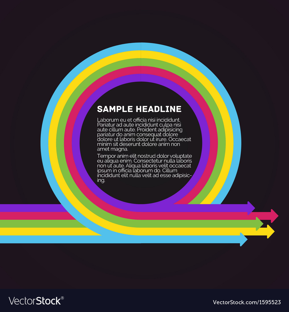 Infographics template Colorful circle arrows