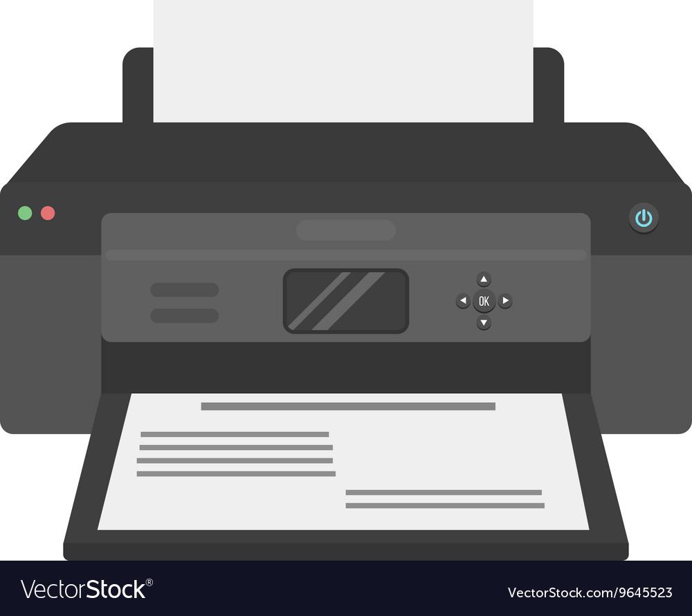 Printer vector image