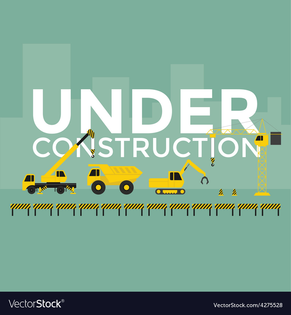 Building Under Construction vector image