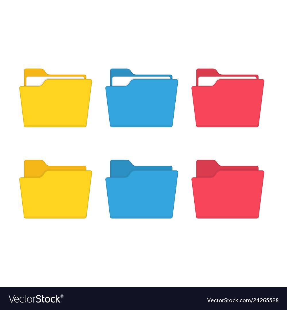 Colorful file folder set