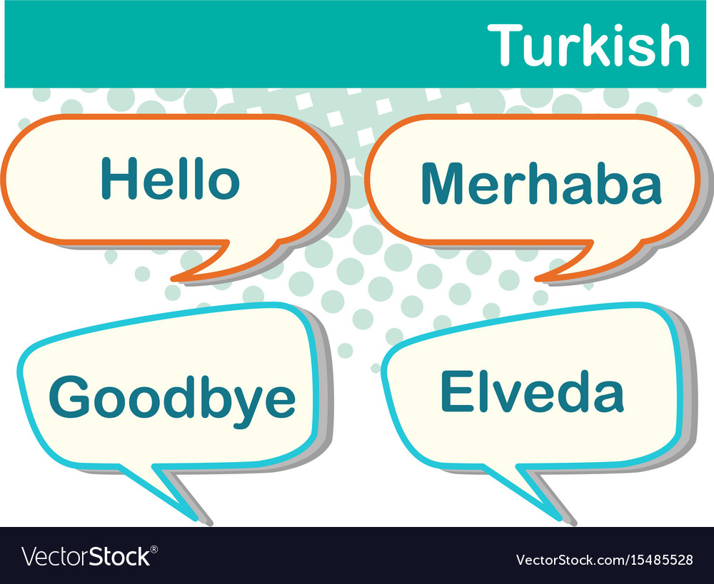 Different Expressions In Turkish Language Vector Image